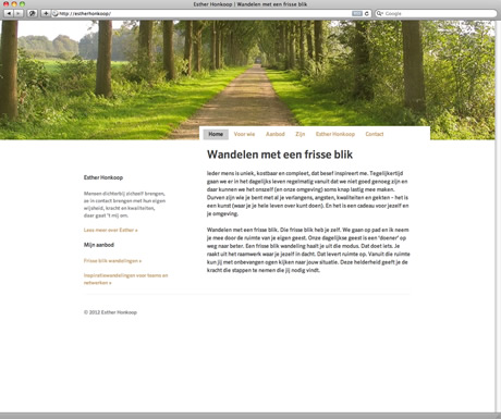 Website Esther Honkoop